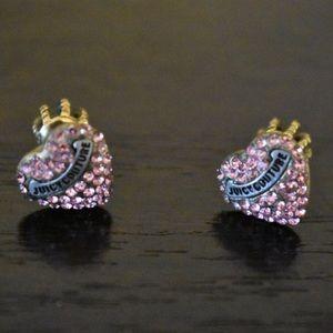 Pink Rhinestone Juicy Couture Earrings